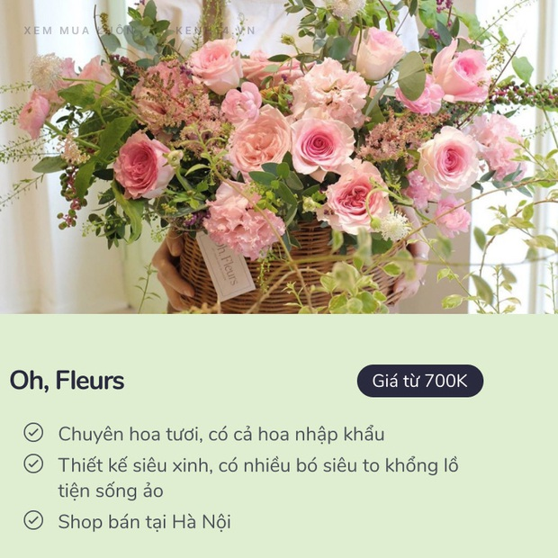 20/10 mua hoa ở đâu: 8 shop hoa siêu đẹp, bó hoa siêu có tâm ở Hà Nội và Sài Gòn chắc nhiều người sẽ cần - Ảnh 1.