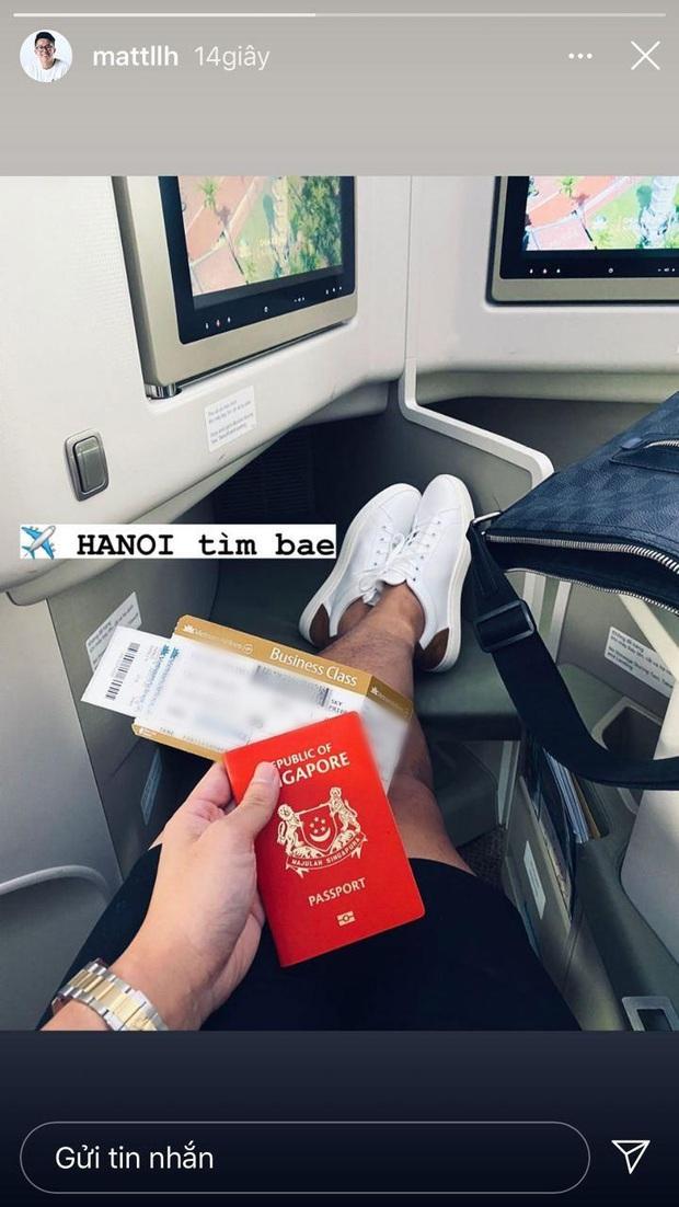 Hương Giang vừa ra Hà Nội hôm qua, nay Matt Liu đã lên luôn máy bay đi tìm nàng: Xa 1 ngày là chịu không nổi? - Ảnh 3.