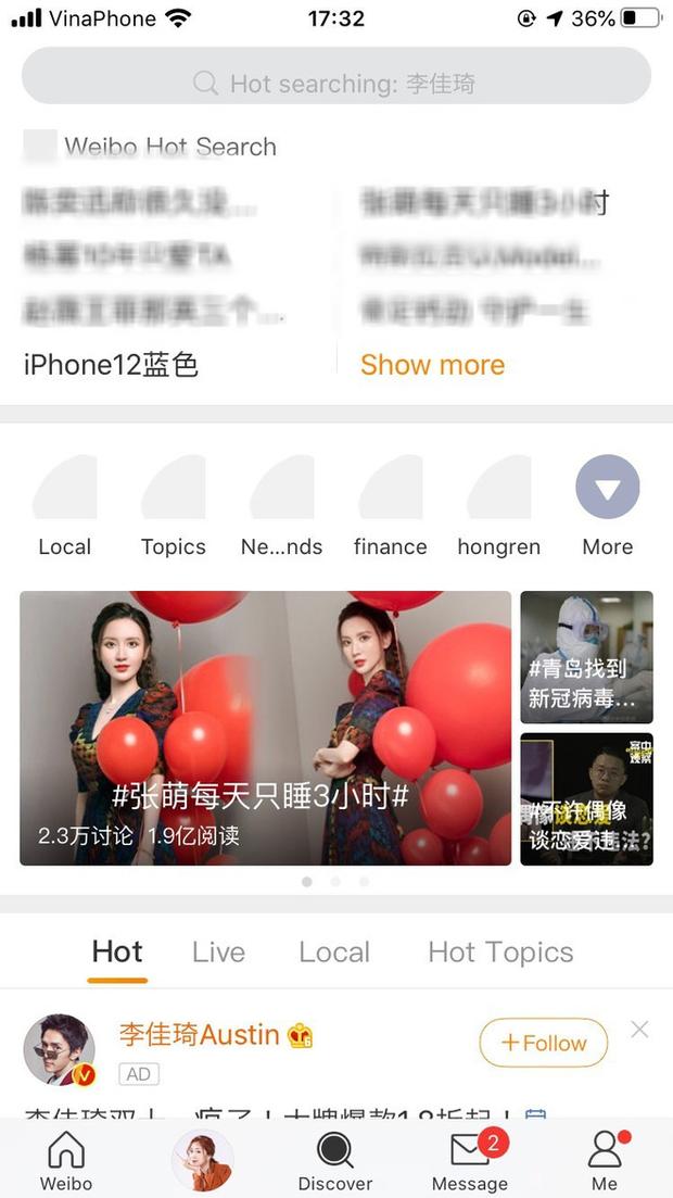 iPhone 12 màu xanh blue hứng gạch đá, đứng đầu bảng tìm kiếm trên Weibo - Ảnh 2.