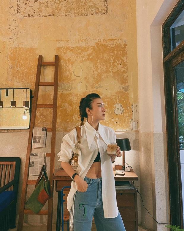 Instagram look của sao Việt tuần qua: Ngọc Trinh diện quần táo bạo trông như lộ nội y, Amee ngày càng chất - Ảnh 10.
