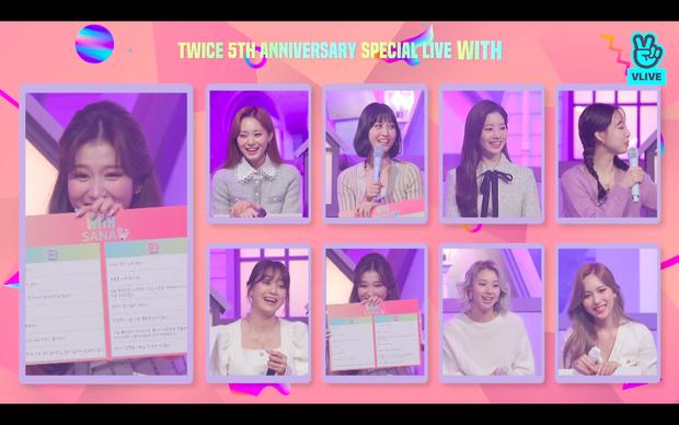Tròn 5 năm debut, TWICE mở buổi live đặc biệt: Jeongyeon vắng mặt, các thành viên không ngại spoil ca khúc mới khiến fan sướng rơn - Ảnh 64.