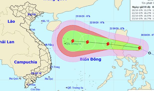 Áp thấp nhiệt đới thành bão số 8, có lúc giật cấp 14 và hướng vào miền Trung - Ảnh 1.