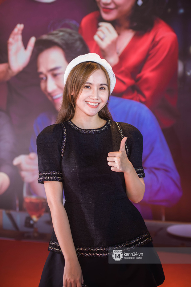 Kaity Nguyễn diện cây đen nền nã, dính như sam với tình màn ảnh Kiều Minh Tuấn ở thảm đỏ Tiệc Trăng Máu - Ảnh 10.