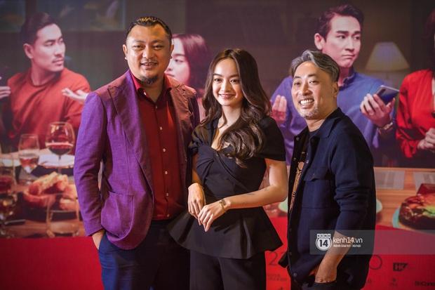 Kaity Nguyễn diện cây đen nền nã, dính như sam với tình màn ảnh Kiều Minh Tuấn ở thảm đỏ Tiệc Trăng Máu - Ảnh 9.