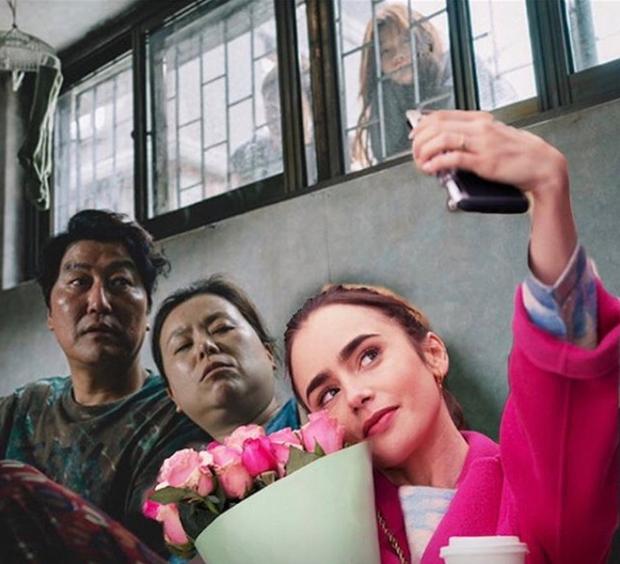 Hết quậy tưng Paris, Emily lại ghé chơi Hàn Quốc trong bộ ảnh cameo Ký Sinh Trùng cực nhắng nhít! - Ảnh 14.