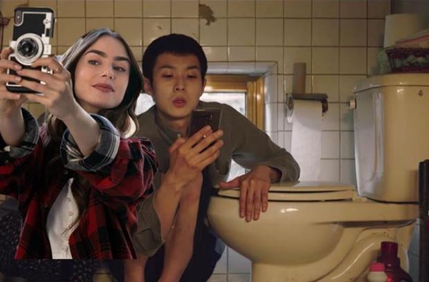 Hết quậy tưng Paris, Emily lại ghé chơi Hàn Quốc trong bộ ảnh cameo Ký Sinh Trùng cực nhắng nhít! - Ảnh 9.