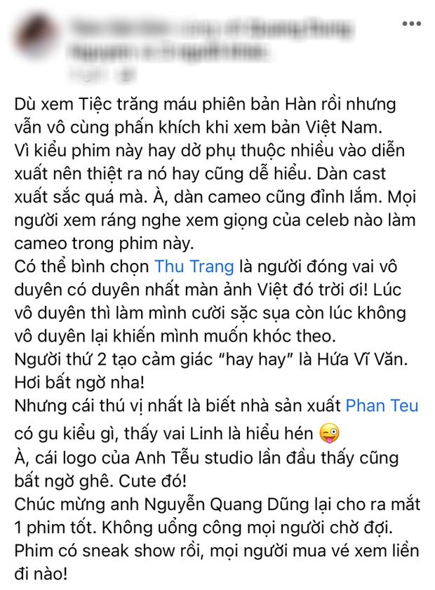 Netizen review nóng Tiệc Trăng Máu: Bom tấn Việt tròn trịa nhất năm, phim hay ăn đứt bản Hàn nha! - Ảnh 5.