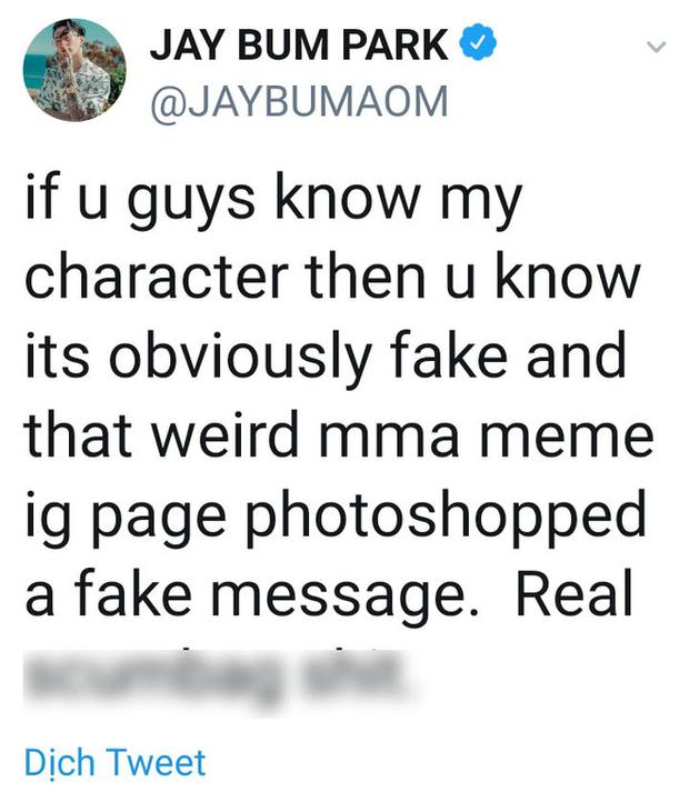 Phẫn nộ đỉnh điểm: Tài khoản MMA chế giễu ảnh đám tang Jonghyun (SHINee), ngụy tạo tin nhắn khiến Jay Park phải lên tiếng - Ảnh 5.