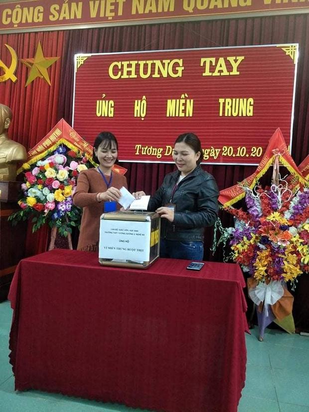 Các giáo viên trường cấp 3 ở Nghệ An từ chối nhận hoa ngày 20/10 để ủng hộ bà con miền Trung - Ảnh 1.