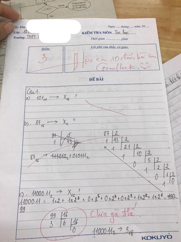 Thầy giáo cho đề kiểm tra cực khó, học trò khóc ròng nhưng lại cười ngay vì loạt lời phê cưng xỉu - Ảnh 1.