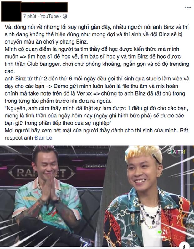 Người trong ekip kể chuyện Binz gọi thí sinh đến studio mỗi ngày, tận tâm dạy và mix nhạc để mang đến sân khấu tốt nhất tại Rap Việt - Ảnh 4.