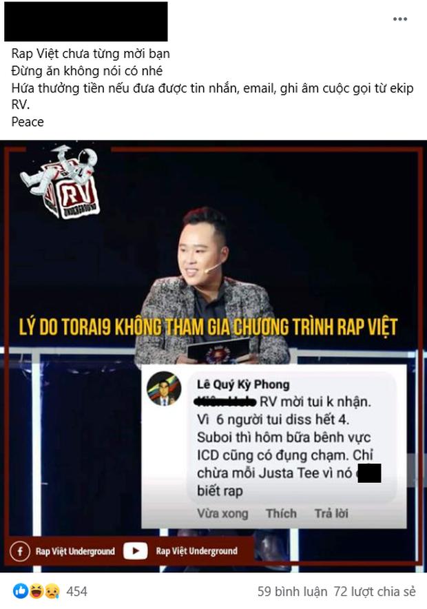 Rhymastic và Wowy đáp trả cực gắt sau khi rapper Torai9 tuyên bố từng từ chối lời mời của Rap Việt, còn cà khịa JustaTee không biết rap - Ảnh 5.