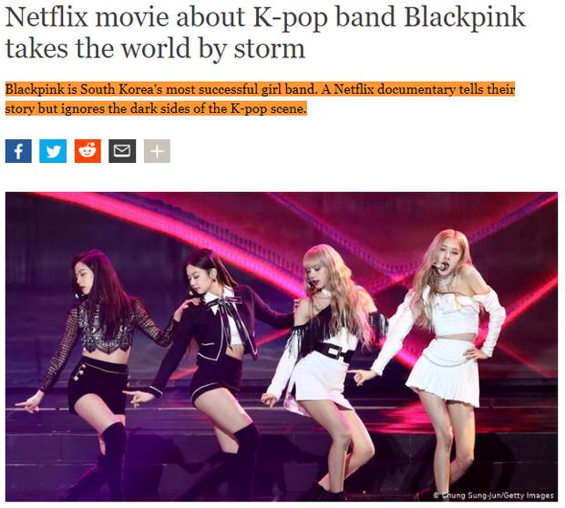 Báo Tây tố phim tài liệu về BLACKPINK tô hồng K-Pop, netizen sôi máu: USUK thì không có mặt tối à? - Ảnh 1.