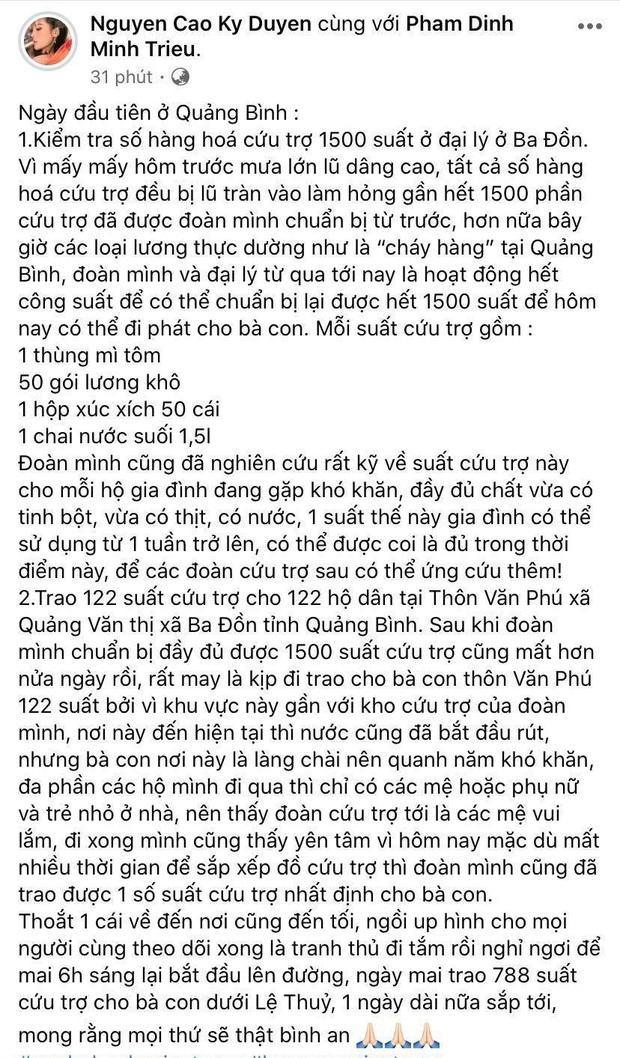 1500 suất hàng Hoa hậu Kỳ Duyên - Minh Triệu mang đi cứu trợ miền Trung bị nước tràn vào làm hỏng gần hết - Ảnh 2.