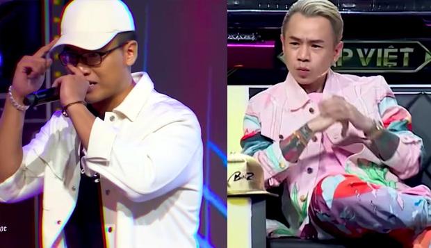 Suốt 3 vòng Rap Việt, biểu cảm của Binz khi xem GDucky biểu diễn rất đáng chú ý! - Ảnh 1.