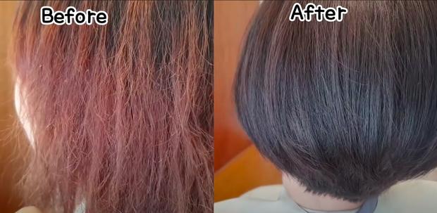 Tẩy và nhuộm quá nhiều khiến tóc khô như rơm, cô nàng miễn cưỡng nghe theo thợ làm tóc cắt đi 2/3 nhưng cái kết thật bất ngờ - Ảnh 5.