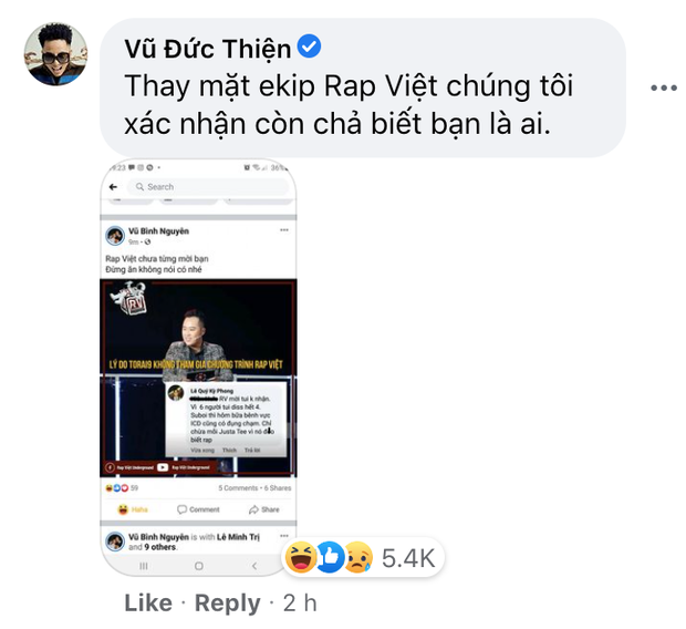 Rhymastic và Wowy đáp trả cực gắt sau khi rapper Torai9 tuyên bố từng từ chối lời mời của Rap Việt, còn cà khịa JustaTee không biết rap - Ảnh 4.