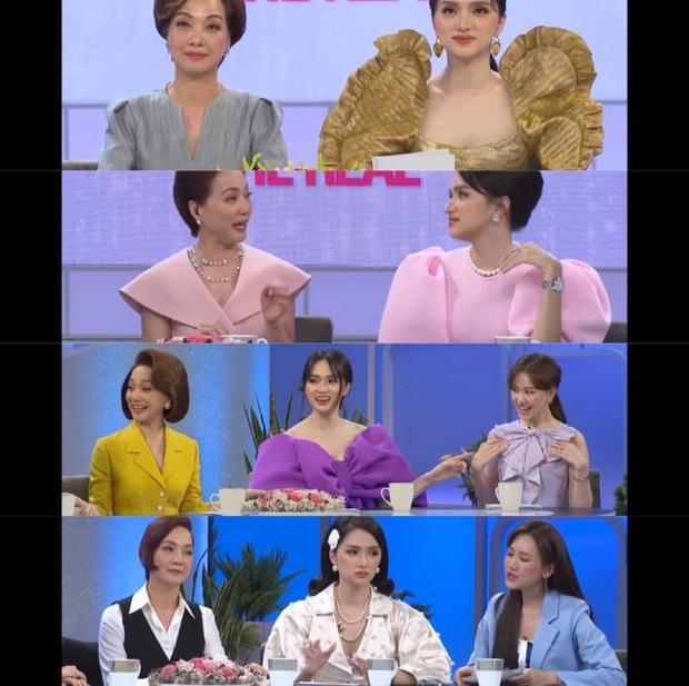 Netizen tranh cãi tố Hương Giang liên tục mặc lố trên sóng truyền hình, chiếm luôn spotlight của Hari Won và tiền bối - Ảnh 2.