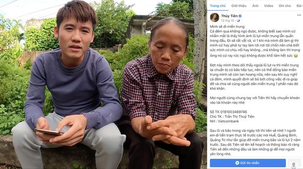 """Cả """"vũ trụ vlogger"""" cùng đồng lòng hướng về miền Trung: Khoai Lang Thang kêu gọi được 1,65 tỷ đồng, Bà Tân Vlog gửi thẳng 50 triệu ủng hộ - Ảnh 4."""