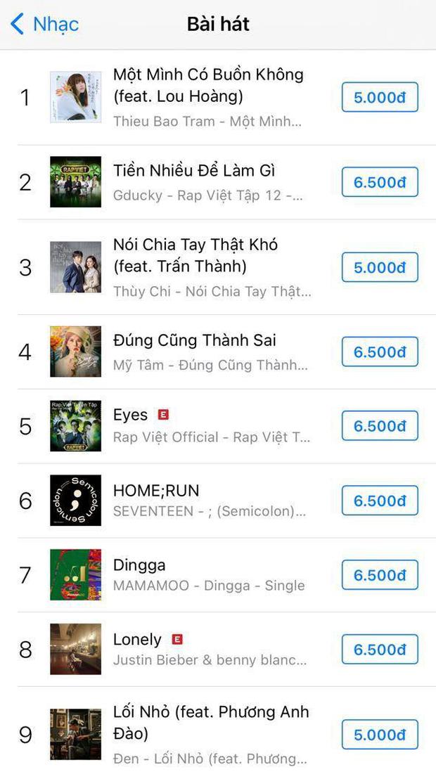 Sau màn trình diễn gây bão tại Rap Việt, Tiền Nhiều Để Làm Gì của GDucky leo thẳng #2 Apple Music, lọt top 50 ca khúc viral nhất Việt Nam - Ảnh 3.