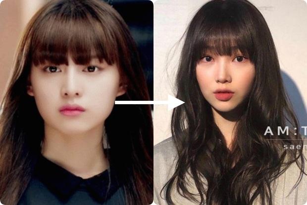 Taeyeon và Hà Tăng lăng xê xu hướng tóc mái che mặt bánh bao, trán sân bay cực kỳ lợi hại - Ảnh 4.