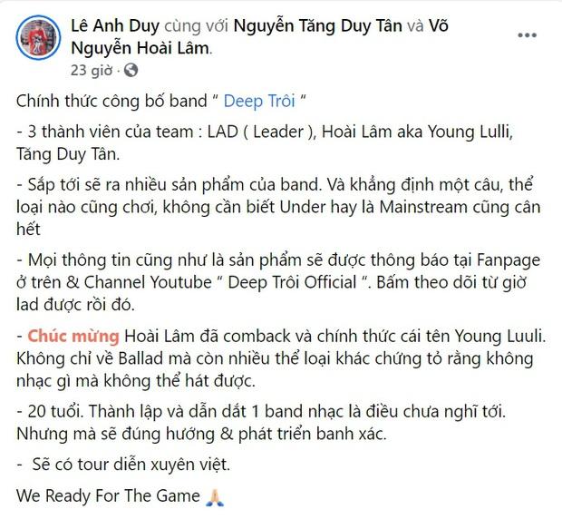 Hoài Lâm đổi nghệ danh chuyển hướng rapper, thành lập nhóm nhạc 3 thành viên: thực hư chưa rõ nhưng đã bị dân tình ném đá? - Ảnh 3.