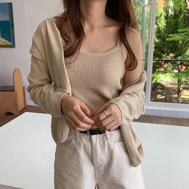Sắm áo màu be, style của bạn chỉ có thanh lịch như gái Pháp hoặc sang xịn như gái Hàn trở lên - Ảnh 9.