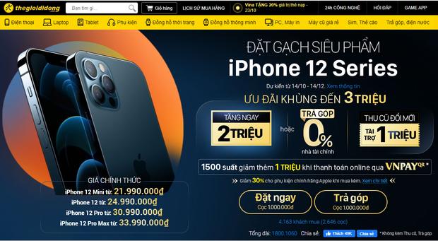 Nhiều người Việt chọn đặt hàng iPhone 12 Pro Max, giá bán khá cao nhưng có nhiều khuyến mãi - Ảnh 3.