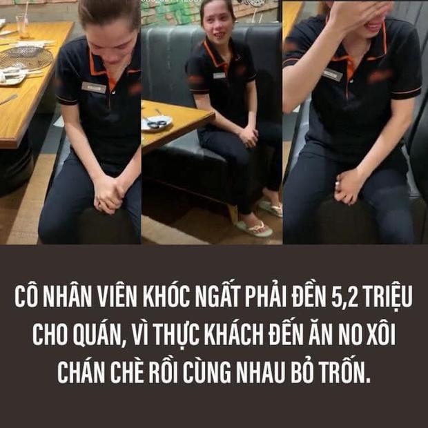 Nhà hàng buffet có nhân viên khóc vì khách ăn quỵt 5 triệu bị netizen công khai tin nhắn: Chi phí trừ vào lương mỗi tháng, không trừ một lần - Ảnh 1.