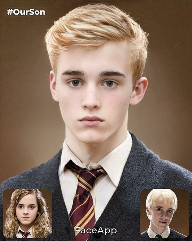 Rần rần ảnh dự đoán nhan sắc con cặp Emma Watson - Tom Felton: Nét đẹp hoàn mỹ, fan Harry Porter phấn khích vì visual quá hot - Ảnh 4.