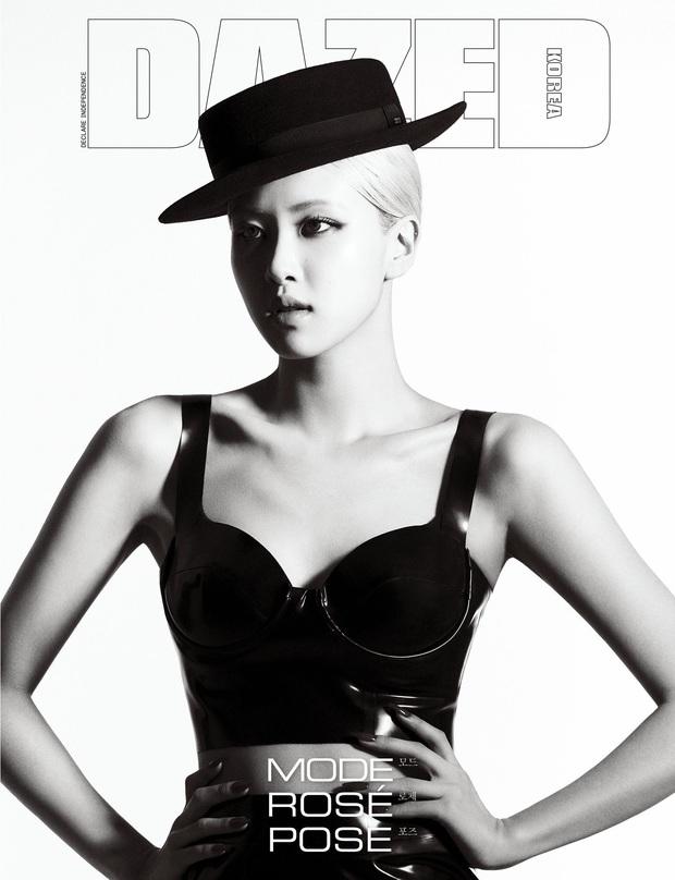 Sốc nhẹ bộ ảnh tạp chí mới của Rosé (BLACKPINK): Son đỏ chót, lên đồ da bóng lộn, vòng 1 khiêm tốn sao sang thế này? - Ảnh 5.