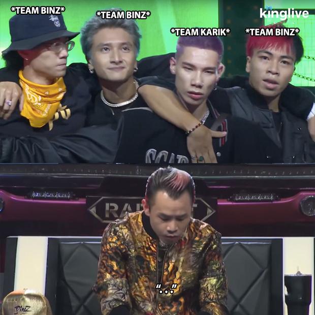 Rap Việt: Binz ôm đầu khi thấy 3 học trò lên sân khấu hỗ trợ MCK để diệt Hành Or - Ảnh 4.