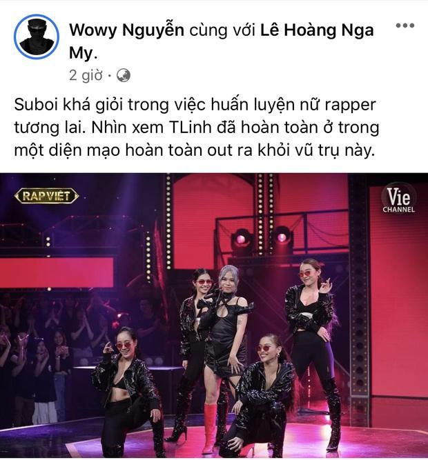 Đôi trẻ Tlinh - MCK khiến hội sợ vợ JustaTee - Rhymastic - Karik cùng Wowy mê ra mặt, khen từ trong show đến ngoài đời - Ảnh 9.