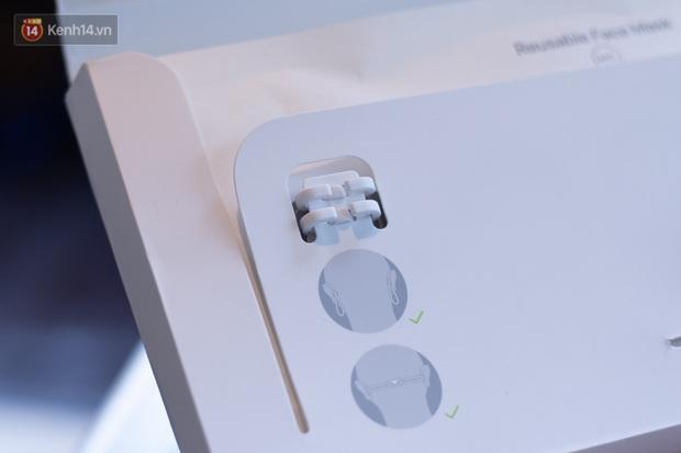 Mở hộp, trải nghiệm khẩu trang Apple hàng limited tại Việt Nam - Ảnh 8.