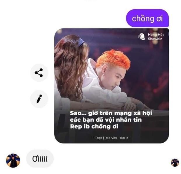 Tage năn nỉ các fan bình tĩnh khi bị spam loạt tin nhắn: Rep inbox chồng ơi sau vòng 3 Rap Việt - Ảnh 3.