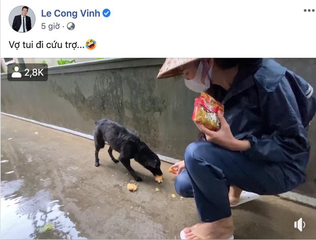 Công Vinh bật cười kể chuyện Thuỷ Tiên tranh thủ cho chó ăn cực đáng yêu khi đi cứu trợ miền Trung - Ảnh 1.