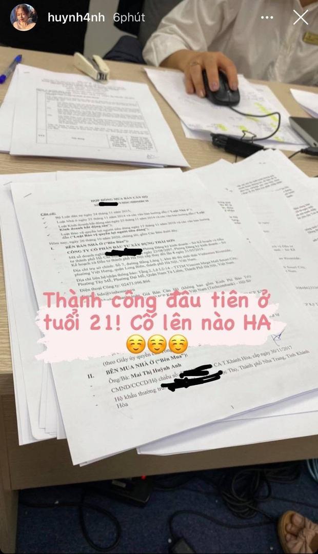 Bạn gái Quang Hải bất ngờ khoe mua nhà ở tuổi 21: Thành công đầu tiên, cố lên nào Huỳnh Anh - Ảnh 1.