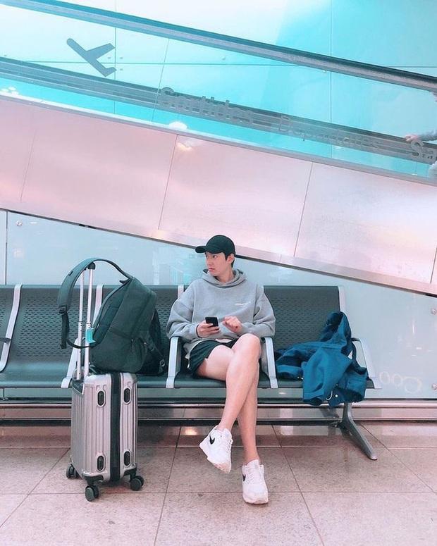 Lee Min Ho khoe chân thon nõn nà nhưng ai cũng chú ý vào chiếc quần đùi xanh hổ báo - Ảnh 4.