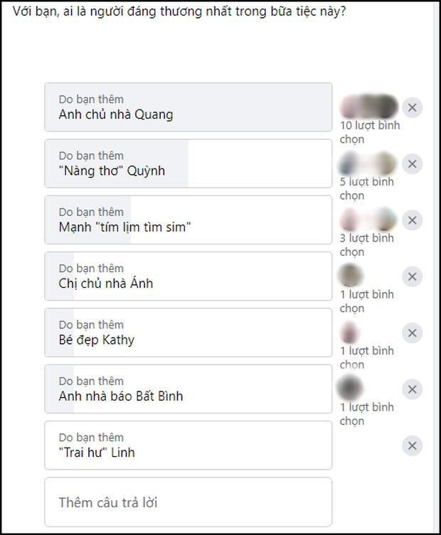 Fan Việt chọn ai đáng ghét - đáng thương nhất Tiệc Trăng Máu: Cặp mèo mả Linh - Ánh bị hắt hủi, anh chồng Quang được cưng vì đẹp trai? - Ảnh 7.