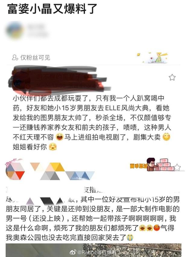 Ầm ĩ cả Weibo: Phú bà tiết lộ đang cặp kè mỹ nam kém 15 tuổi dự sự kiện ELLE, fan Thái Từ Khôn - Lưu Hạo Nhiên run cầm cập - Ảnh 2.