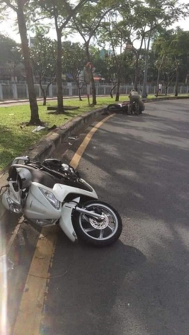 Kẻ trộm xe xịt hơi cay tấn công hình sự, nhảy kênh tẩu thoát ở Sài Gòn - Ảnh 3.