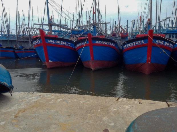 Ngư dân Bình Định tấp nập gia cố tàu thuyền tránh bão số 9 đang vào bờ - Ảnh 2.