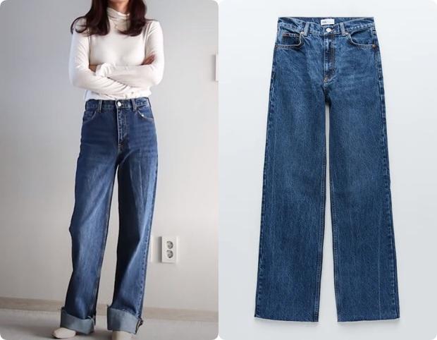 Thử 5 dáng quần jeans của Zara, nàng blogger xứ Hàn chỉ luôn nên chọn chiếc nào, bỏ qua chiếc nào nếu bạn có mỡ bụng - Ảnh 9.