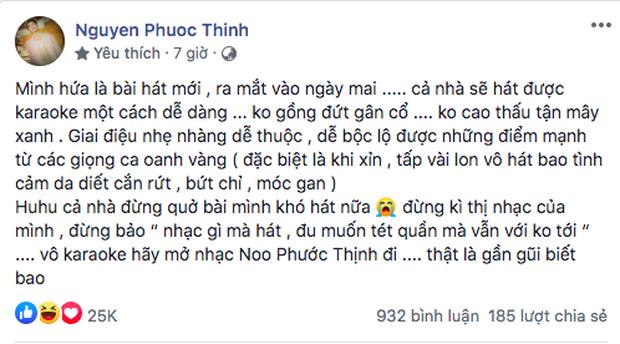 Noo Phước Thịnh khẳng định ca khúc mới sẽ hát karaoke dễ dàng, xin xỏ fan không... kỳ thị nhạc của mình - Ảnh 2.