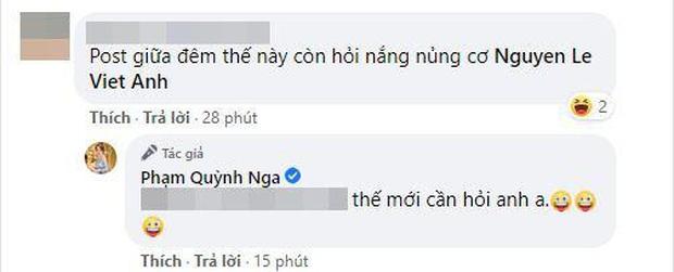 Quỳnh Nga mặc nội y khoe vòng 1 bức thở, bạn chung liền gọi thẳng tên Việt Anh và nhận được lời đáp bất ngờ từ đàng gái - Ảnh 3.