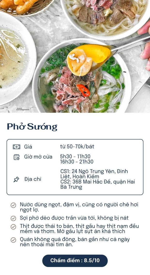 Chấm điểm 7 quán phở nổi tiếng nhất Hà Nội: Sợi phở dai, thịt bò mềm, qua hàng chục năm vẫn đỉnh như ngày đầu! - Ảnh 2.
