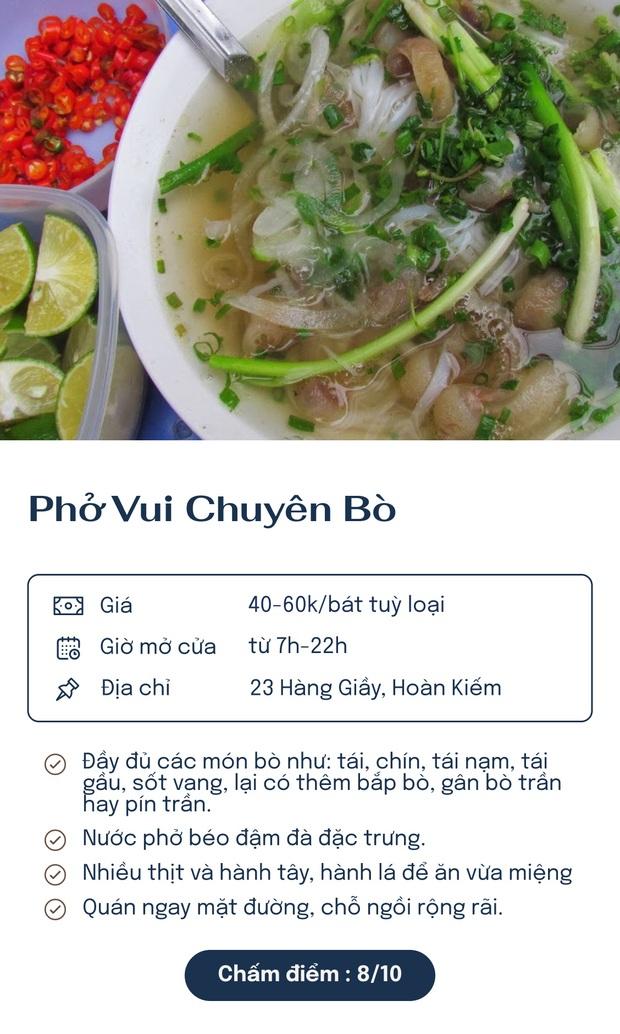 Chấm điểm 7 quán phở nổi tiếng nhất Hà Nội: Sợi phở dai, thịt bò mềm, qua hàng chục năm vẫn đỉnh như ngày đầu! - Ảnh 4.
