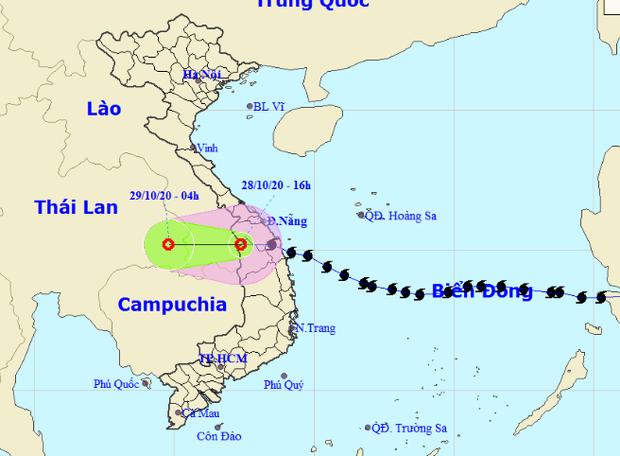 Bão số 9 suy yếu thành áp thấp nhiệt đới, tâm áp thấp đang ra khỏi nước ta - Ảnh 1.