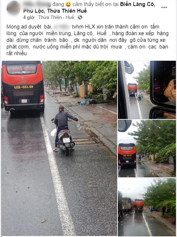 Người dân Huế gõ cửa từng xe xếp hàng trú bão để tặng cơm miễn phí, bất chấp mưa gió khiến ai cũng xúc động - Ảnh 1.