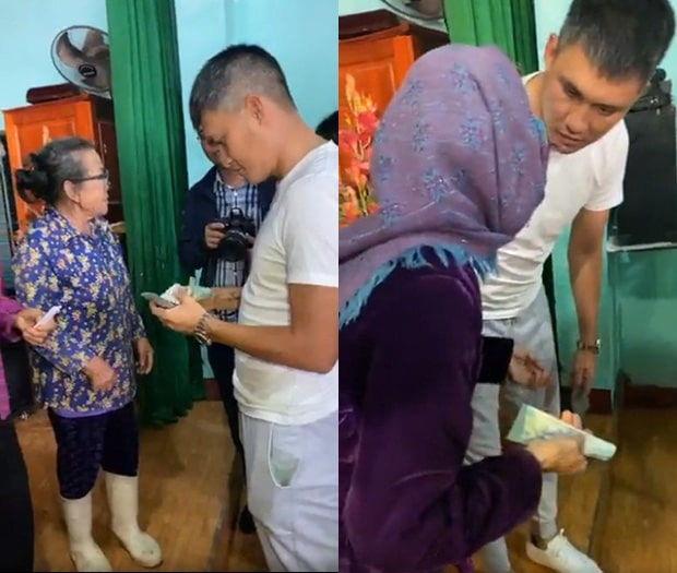 Thấy bà cụ 75 tuổi bị kéo mạnh tay khi đi cứu trợ, Thuỷ Tiên và Công Vinh có hành động gây chú ý - Ảnh 5.